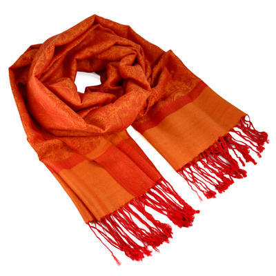 Šál teplý - oranžový