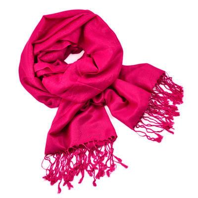 Šál teplý 69cz001-25a - ružový