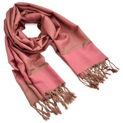 Šál teplý - ružovo-hnedý