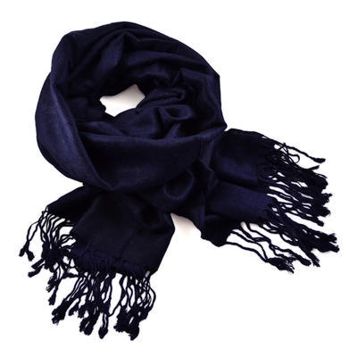 Šál teplý 69cz001-36a - tmavo modrý