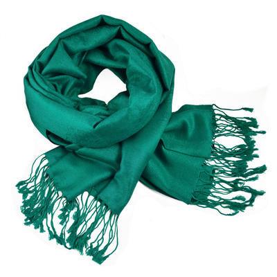 Šál teplý - zelenomodrý
