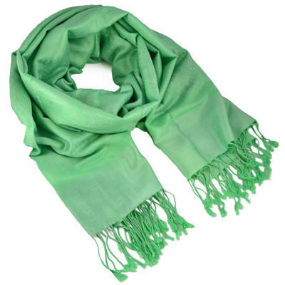 Šál teplý - zelený
