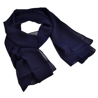 Šál klasický 69kl001-36 - tmavě modrý