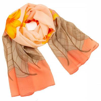 Šál klasický - hnedo-oranžový