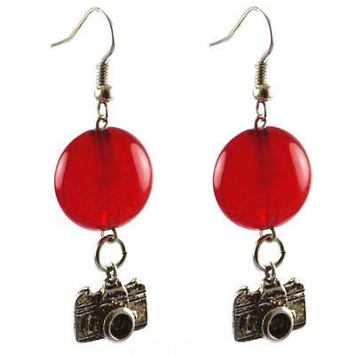 Náušnice  22bm002-20 - červené