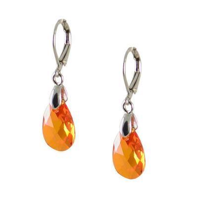 Náušnice Swarovski Elements Hruška 713akt6106-16-11 - oranžové