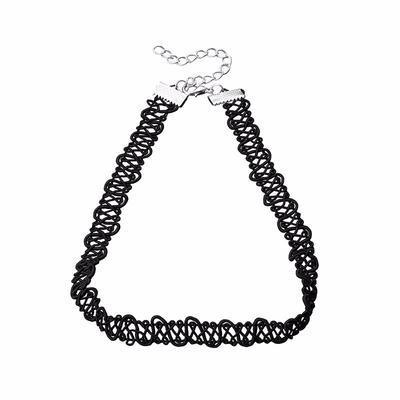 Náhrdelník choker 34ac001-70e - čierna čipka - 1