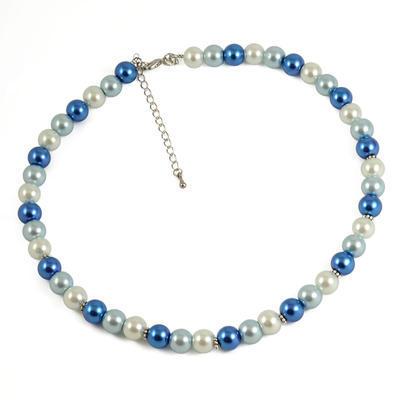 Náhrdelník 34bm002-30.01 - modrobiely