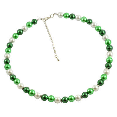 Náhrdelník 34bm002-50.01 - zelenobiely
