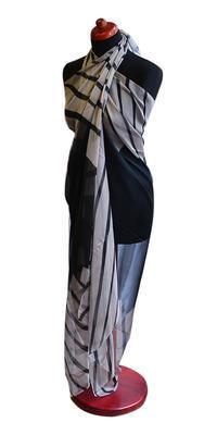Pareo dámske Astarte par003-70.71 - čierno sivé