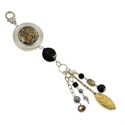Kľúčenka - prívesok na kabelku pr007-40.70 - hnedá