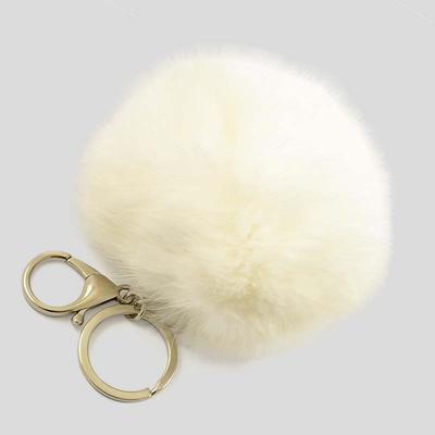 Kľúčenka - prívesok na kabelku prq125-01- biely