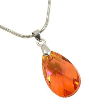 Prívesok Swarovski Elements Pear 339akt6106-22-11 - oranžový