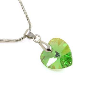 Náhrdelník Swarovski Elements Srdce Xilion 339akt6228-14-51ab - svetle zelený