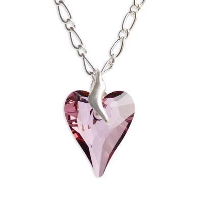 Prívesok Swarovski Elements Srdce WildHeart 339akt6240-27-28 - ružový