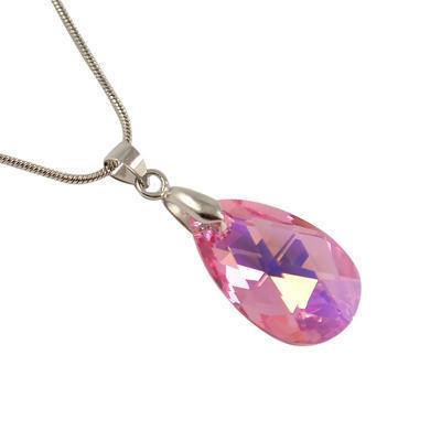 Prívesok Swarovski Elements Pear 339akt6106-22-23 - ružový