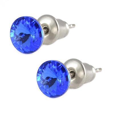 Náušnice Swarovski Elements pecky Rivoli 713fx1122-8-30 - modré