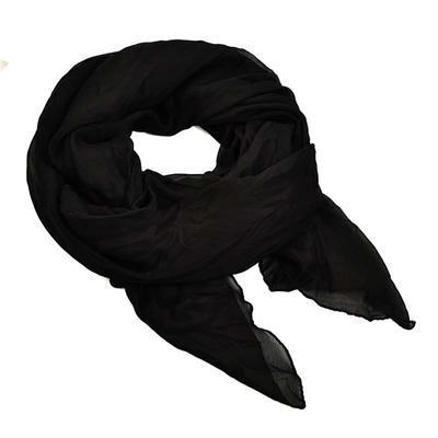 Šál bavlněný Classic 69cl001-70 - čierný