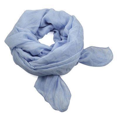 Šál bavlněný Classic 69cl003-31.01 - modrý - 1