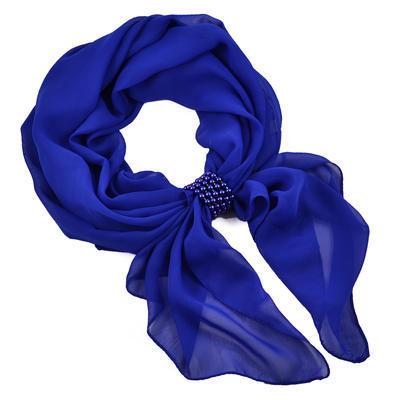 Šál so sponkou Melodie 299mel001-30 - modrý - 1