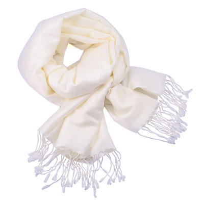 Šál teplý 69cz001-01 - biely