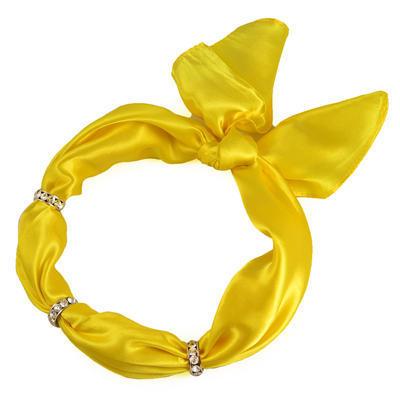 Šatka s bižutériou Sofia 245sof001-10 - žltá - 1