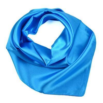 Šatka saténová malá 63sk001-30 - modrá