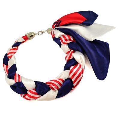 Šatka-náhrdelník Florina - modročervený - 1