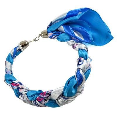 Šatka-náhrdelník Florina 299flo009-32.01 - modro-biely - 1