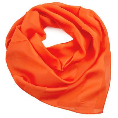 Šatka - oranžová jednofarebná