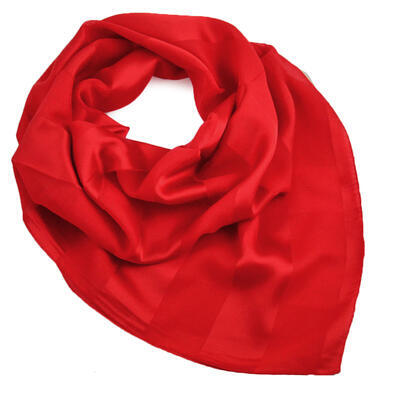 Šatka - červená jednofarebná