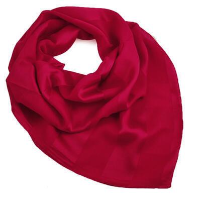 Šatka - tmavo červená jednofarebná