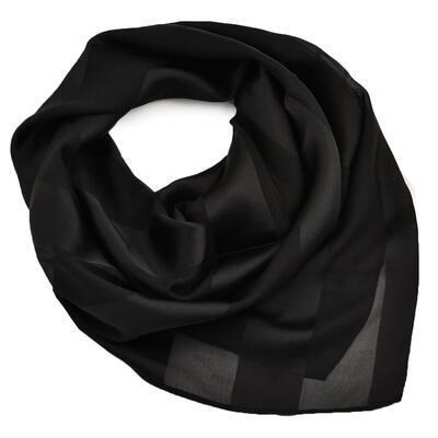 Šatka - čierna jednofarebná - 1