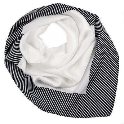 Šatka - čierno-biela s potlačou - 1