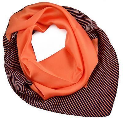 Šatka - oranžová s potlačou - 1