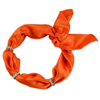 Šatka s bižutériou Sofia 245sof001-11 - oranžová - 1