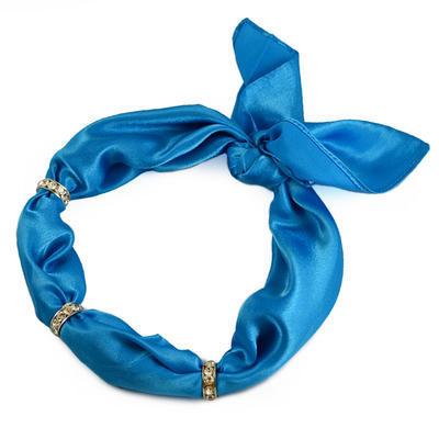 Šatka s bižutériou Sofia 245sof001-30 - modrá - 1