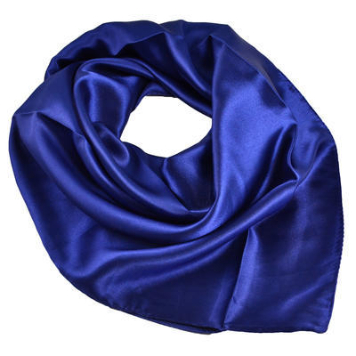 Šatka saténová malá - modrá