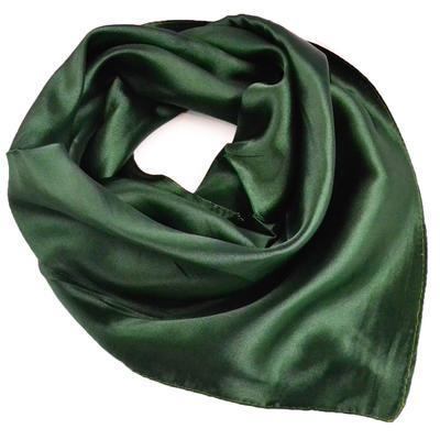 Šatka saténová malá - zelená