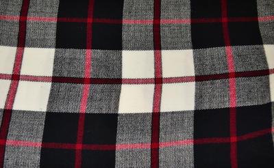Šál teplý - čiernobiely - 2