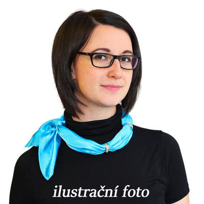 Šatka s bižutériou Sofia 245sof001-30 - modrá - 2
