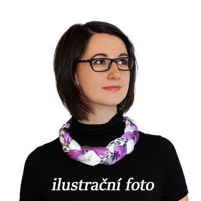 Šatka-náhrdelník Florina 299flo009-32.01 - modro-biely - 2