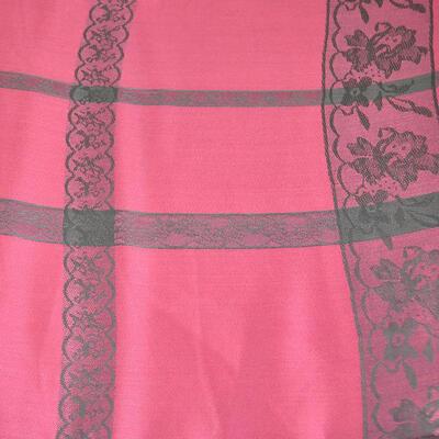 Šál teplý - ružový s potlačou - 2