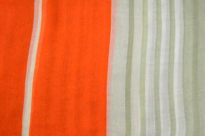 Šál klasický - oranžovo-zelený - 2