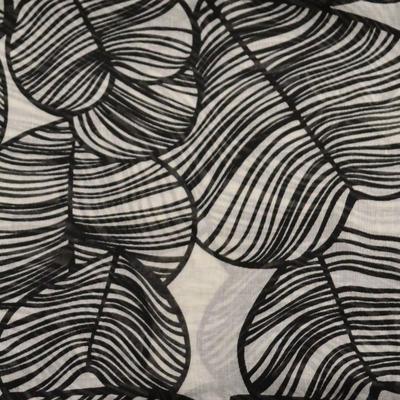 Šál klasický - bielo-čierny - 2