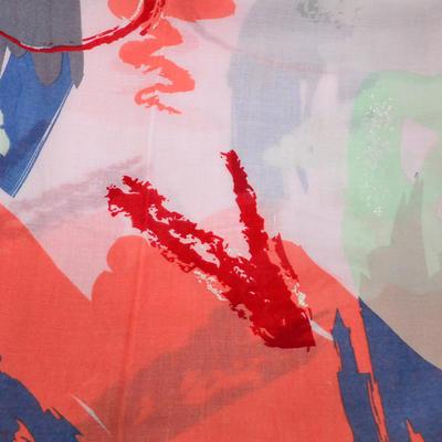 Šál klasický - ružovo-červený - 2