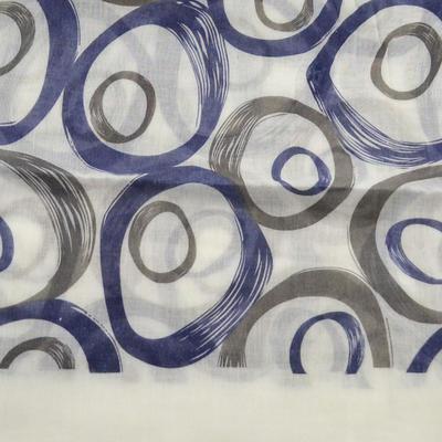 Šál klasický - bielo-modrý - 2