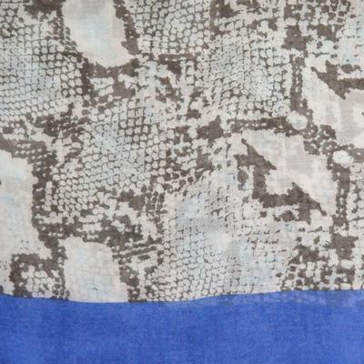 Šál klasický - béžovo-modrý - 2