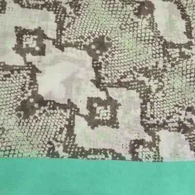 Šál klasický - béžovo-zelený - 2