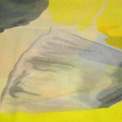 Šál klasický - žlto-sivý - 2